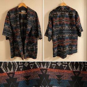 Comfy coat with pockets and Aztec design